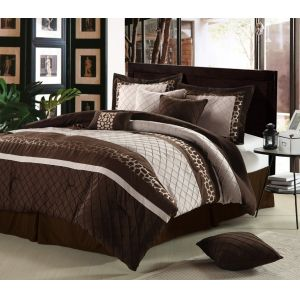 8-Piece Cheetah Oversized and Overfilled Comforter Set