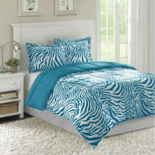 Home Essence Bright Zebra Microfiber Down Alternative Comforter Set