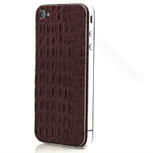 iPhone 4 and 4S Alligator Print Leather Protector Wrap