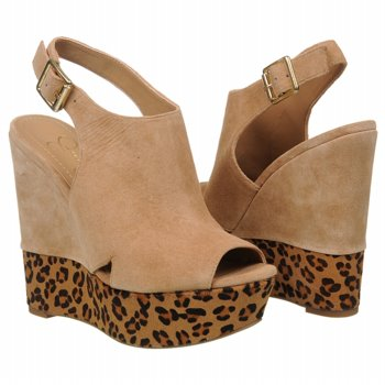 Jessica Simpson Camel/Cheetah Wedge Sandals