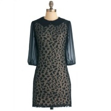 Vintage Leopard Trot Dress