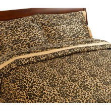 Regal 300 Thread-Count Leopard Print Duvet Set