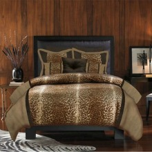 Veratex Leopard Print 4-Piece Comforter Set
