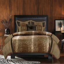 veratex leopard print 4 piece comforter set