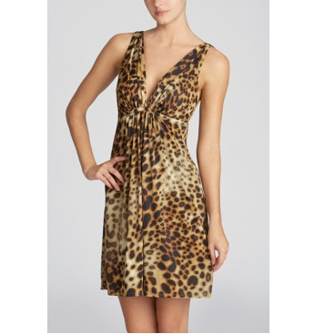Natori Leopard Animal Print Chemise Nightdress