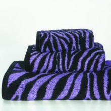 Purple Zebra 3pc Towel Set