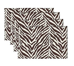 Zebra 13×19 Set of 4 Placemats