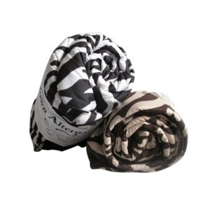 Space Living Down Alternative Zebra Animal Print Throw