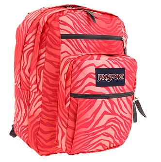 Jansport Big Student Pink Coral Zebra Backpack