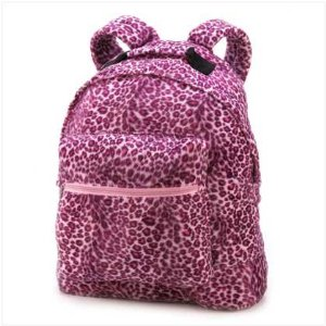 Pink Animal Leopard Print School Bag Fabric Backpack