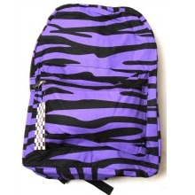 Clover Purple Zebra Print Backpack