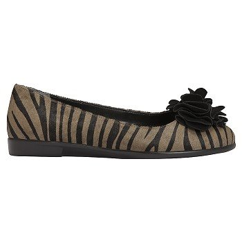 Aerosoles Zebra Print Black Mink Flat Shoes