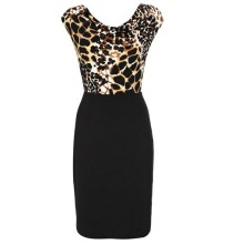 Animal Print 2 in 1 Dress