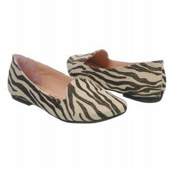 BETSEY JOHNSON Zebra Print Flat Shoes