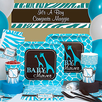 Blue Wild Safari Animal Print Deluxe Kit N Kaboodle