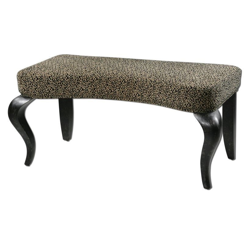 Carolyn Kinder Cheetah Print Bench