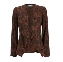 Cheetah Animal Print Waterfall Jacket