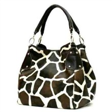 FASH Giraffe Print Faux Leather Handbag Tote