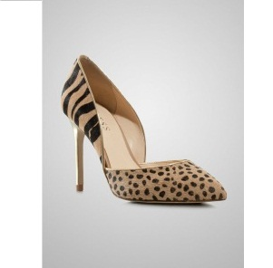 GUESS Tiger-Cheetah Animal Print Pony Pumps
