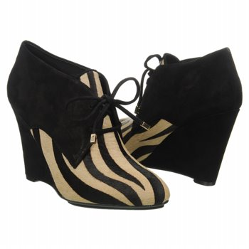ISAAC MIZRAHI Tan and Black Zebra Booties