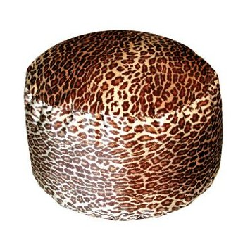 Leopard Animal Print Footstool Ottoman