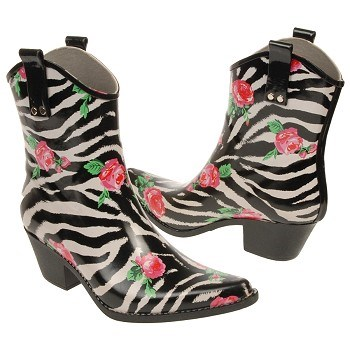 Nomad Rose Zebra Print Low Boots