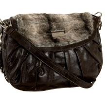 Pilar Abril Faux Fur Large Satchel Bag