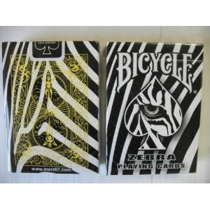 Rare Zebra Deck Playing Cards