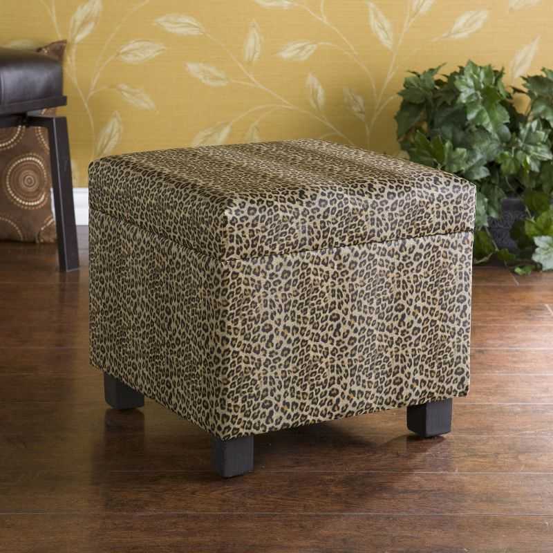 Giraffe Print Storage Ottoman