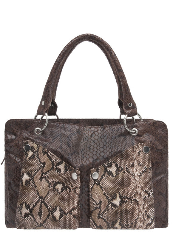Lane Bryant Colorblock Snakeskin Satchel Bag