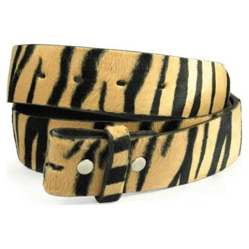 Snap On Faux Fur Zebra Print Belt Strap