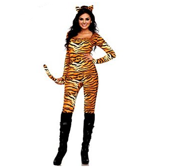 Wild Tiger Adult Catsuit Costume