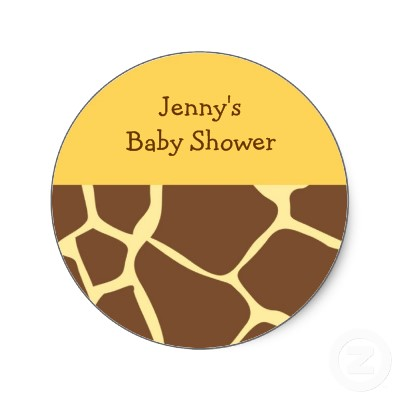 Trendy Giraffe Animal Print Stickers Envelope Seals