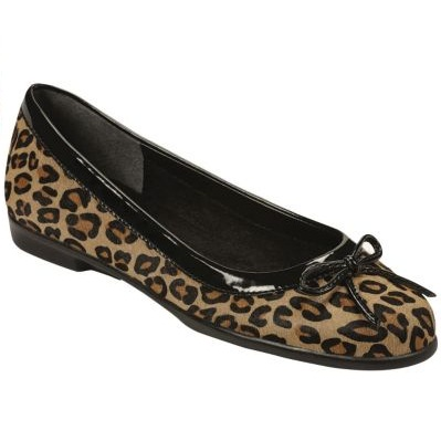 Aerosoles Womens Leopard Print Ballet Shoes