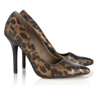 Leopard Square Cut Pumps