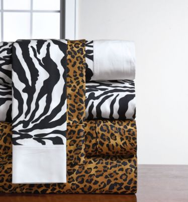 230 Thread Count Leopard or Zebra Animal Print Sheet Set