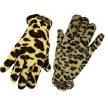 Animal Print Thermo Fleece Insulated Ladies 2 Pack Gloves