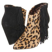 Betsey Johnson Leopard Haircalf Booties