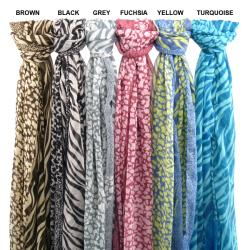 Elegant Animal Print Scarf