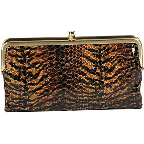 Hobo Lauren Tiger Print Leather Women's Wallet