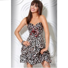 Jovani Leopard Print Short Party Dress