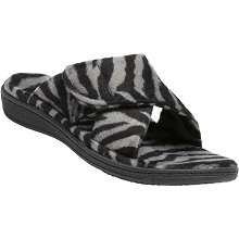 Orthaheel Relax Slippers Dark Grey Zebra Women's Sandal