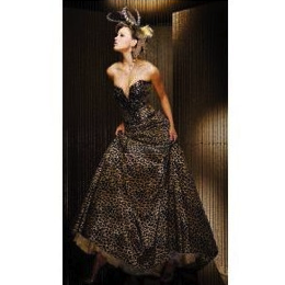 Tony Bowls Special Occasion Leopard Ball Gown
