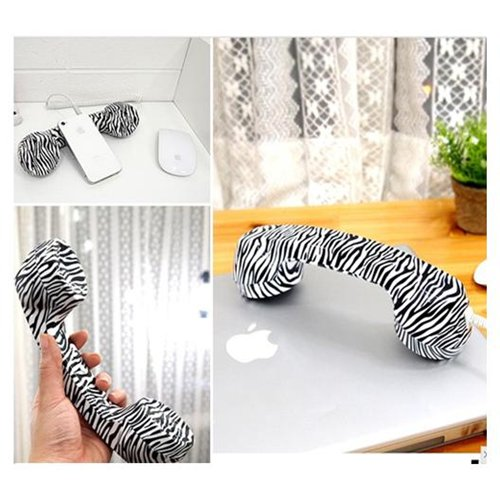 Zebra Stripes Retro Classic Telephone Handset