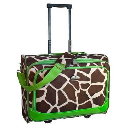 American Flyer Giraffe Animal Print Underseater Luggage