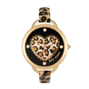 Betsey Johnson Leopard Heart Dial Watch