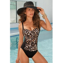 Leopard Animal Print Sweetheart Maillot