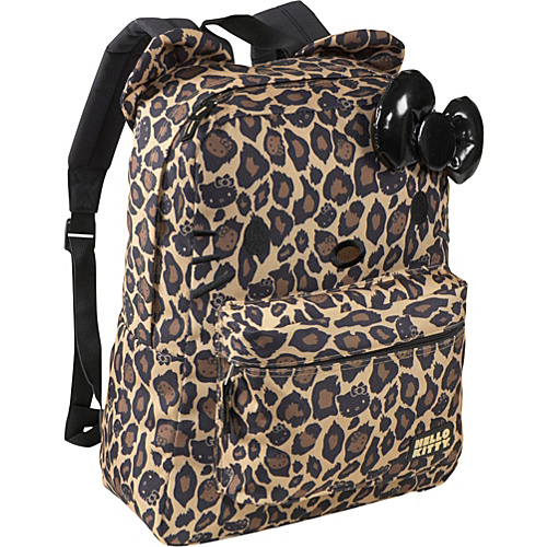 Loungefly Hello Kitty Leopard Backpack with Ears Brown/Black