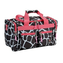 Rockland Luggage 19 Inch Giraffe Animal Print Tote Bag