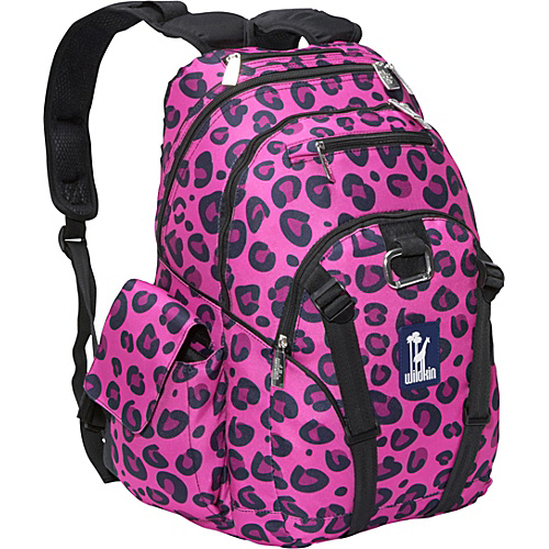 Wildkin Pink Leopard Serious Backpack – Pink Leopard
